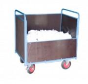 Chariot conteneur en acier mécano soudé - Charge utile : 500 Kg