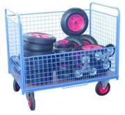 Chariot conteneur Grillagé - Capacité (L) : 460 - 640