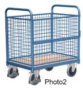 Chariot conteneur professionnel - Capacité de charge : 500 kg