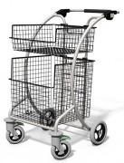 Chariot courrier 2 corbeilles - Capacité : 150 kg