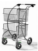Chariot courrier 2 corbeilles amovibles - Capacité : 150 kg