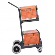 Chariot courrier 2 paniers dossiers suspendus - Charge admissible : 70 kg