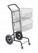 Chariot courrier 2 paniers grandes roues - Dimensions : HT 1110 x 510 x 560 mm