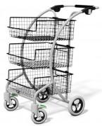Chariot courrier 3 corbeilles amovibles - Capacité : 150 kg