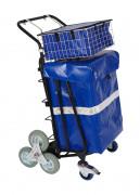 Chariot courrier à roues etoiles - Dimensions paniers (L x p x h) : 475 x 395 x 165 mm