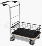 Chariot courrier corbeille basse - Capacité : 250 kg