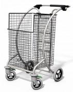 Chariot courrier grande corbeille amovible - Capacité : 150 kg