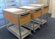Chariot courrier pour dossier suspendus - Finition profilés aluminium