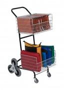 Chariot courrier roues étoiles - Roues en etoiles aident aux franchissement des trottoirs et marches