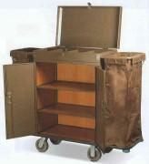 Chariot d'étage avec 2 portes-sacs - 2 porte-sacs - Dimensions (L x l x H) cm :  142 x 40 x 120