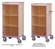 Chariot d'étage roulante 4 étagères - Dimensions (Lxlxh) : 67 x 51 x 133 cm