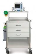 Chariot d'urgence - Chariot médical résistant aux désinfectants et à la décoloration