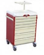 Chariot d'urgence médicale - Plusieurs tiroirs de taille petite ou moyenne