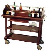 Chariot de boissons alcoolisées - Matière : Bois massif