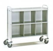 Chariot de bureau avec 6 casiers - Charge (kg) : 150