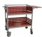 Chariot de bureau transport livres et documents - H 910 à 1350mm x L 852 à 1175mm x P400 à 627mm.