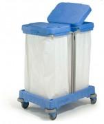 Chariot de collecte et tri déchets - Collecteur de déchets : 2 x 120 L
