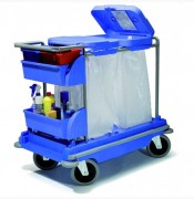 Chariot de collecte et tri sélectif - 2 bacs de rangement   -  2 supports sacs : 120L