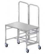 Chariot de conditionnement médical - Dimensions (L x l) cm :120 x 70 - 150 x 70 - 180 x 70