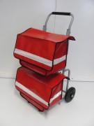 Chariot de courrier pliable - Force portante du châssis (Kg) : 150