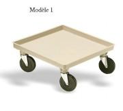Chariot de cuisine avec / sans guidon - Pour casiers de 500 x 500
