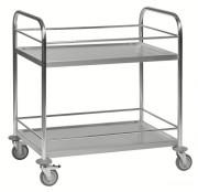 Chariot de cuisine inox - Dimensions : 910 x 590 x 940 mm - Capacité : 100 Kg