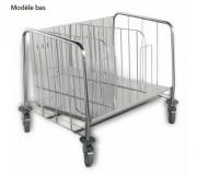 Chariot de cuisine porte-assiettes - Charge maximale : 200 kg -  Pour 400 assiettes