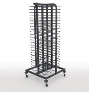 Chariot de cuisine porte-assiettes soudé - Structure en inox  - Capacité : 100 - L 757 x P 757 x H 1810 mm