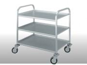 Chariot de desserte aluminium - 2 plateaux - Charge maximale par plateau : 120 kg