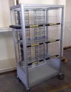 Chariot de distribution courrier - Peut être équipé de roulettes spécifiques