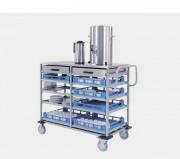 Chariot de distribution pour paniers à vaisselle - Dimensions du plateau supérieur (L x P) mm : 1150 x 570