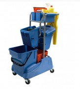 Chariot de lavage fonctionnel - Eau propre : 28L   -  Eau sale : 15L