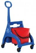 Chariot de lavage plastique - Dimensions chariot (LxIxH) en cm: 53 x 42 x 94