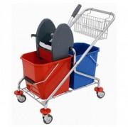Chariot de lavage pliable - Fabriqué en acier chromé – Dimensions (L x l x h) : 840 x 510 x 820 mm