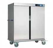 Chariot de maintien en température 2 portes - Capacité guides GN 2/1 (séparation de 60 mm) : 40