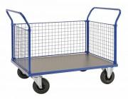 Chariot de manutention 3 côtés grillagés - Pour le rangement de matériel sportif d'une capacité de 500 Kg
