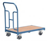 Chariot de manutention dossier tubulaire - Capacité de charge : 250 kg