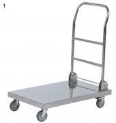 Chariot de manutention en inox - Capacité : 100 ou 150 Kg