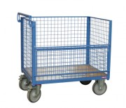 Chariot de manutention grillagé 500 Kg - Charge utile (kg) : 500