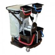 Chariot de ménage 4 roulettes - 2 seaux de 6 L+ 2 seaux de 15 L