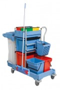 Chariot de ménage compact - Support sac : 120 L