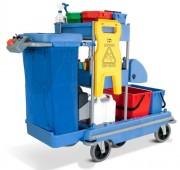 Chariot de ménage motorisé - Capacité sac : 100 L - Autonomie : 3h