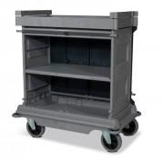 Chariot de ménage pour l'hôtellerie - Hauteur standard - Dimensions : 1116 x 667 x 1205 mm