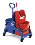 Chariot de nettoyage, 2 seaux de 25L - Chariot de nettoyage, 2 seaux de 25L - Dimensions  chariot (LxIxH) : 69 x 42 x 94 cm