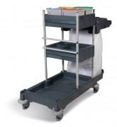Chariot de nettoyage avec 2 supports sacs - Capacité : 2 x 70L ou 120L