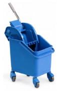 Chariot de nettoyage avec essoreuse - Capacité : 24 litres - Dimensions (L x l x H) cm : 31 x 35 x 38 ou 51