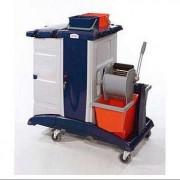 Chariot de nettoyage caréné - Chariot de ménage caréné – transport sécurisé des produits d'entretien dangereux