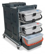 Chariot de nettoyage modulable - 3 x 9L ou 3 x 9L et 3 x 15L