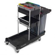 Chariot de nettoyage pour milieu hospitalier - Capacité : 4 x 5 L