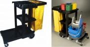 Chariot de nettoyage rubbermaid - Dimensions (cm) : 116.8 x 55.2 x 97.5